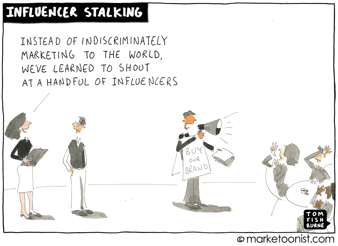 Influencer Marketing cartoon
