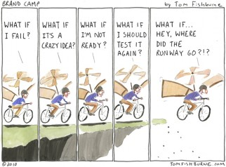 "Brand Camp cartoon: ""Making the Leap"""