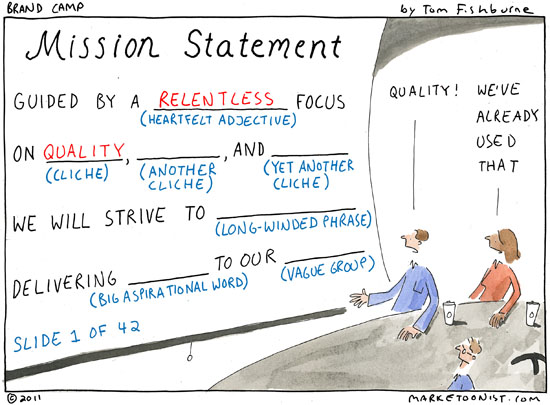 Mission Statement  Marketoonist  Tom Fishburne