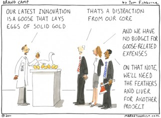 innovation that lays the golden eggs