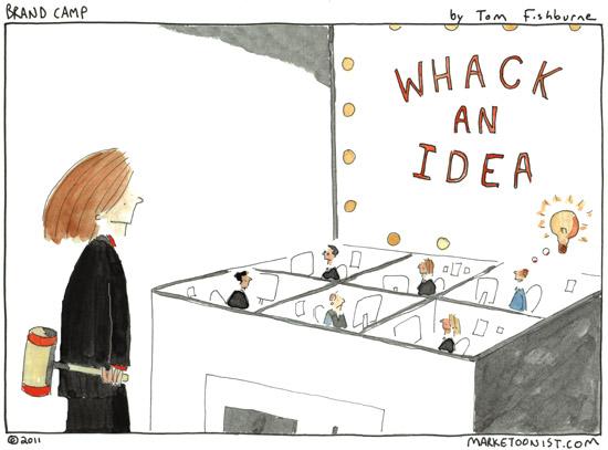 Whack an Idea cartoon