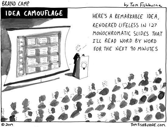 death by powerpoint cartoon marketoonist tom fishburne