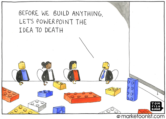 """PowerPoint the Idea"" cartoon"