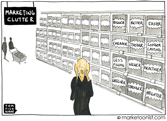 """marketing clutter"" cartoon"