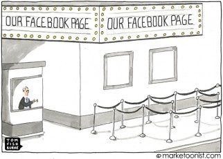 """Our Facebook Page"" cartoon"
