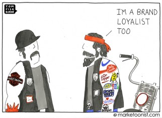 """brand loyalist"" cartoon"