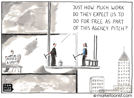 """Agency Pitch"" cartoon"