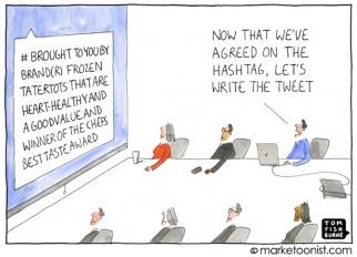 hashtag cartoon