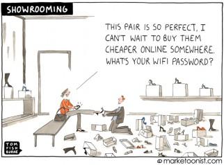 """""""Showrooming"""" cartoon"""