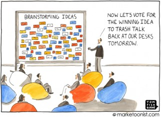 """Brainstorming Ideas"" cartoon"