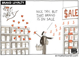 """Brand Loyalty"" cartoon"