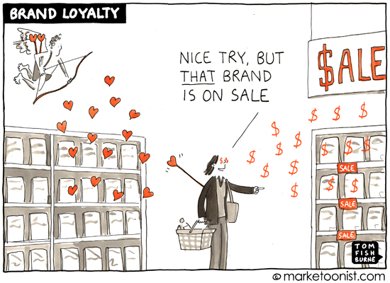 """Brand Loyalty"" cartoon 