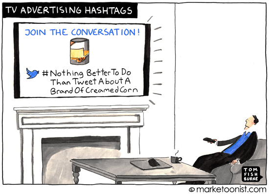 tv advertising hashtags