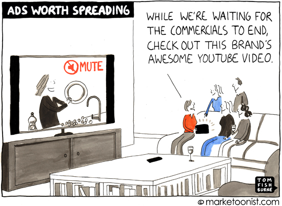 """Ads Worth Spreading"" cartoon"