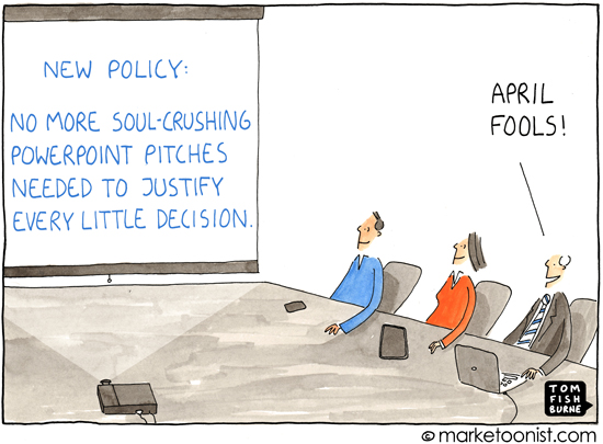 "April Fools"" cartoon 