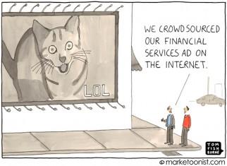 """""""crowdsourcing"""" cartoon"""