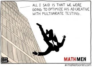 """Math Men and Data-Driven Marketing"" cartoon"