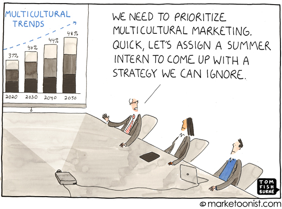 """Multicultural Marketing"" cartoon"