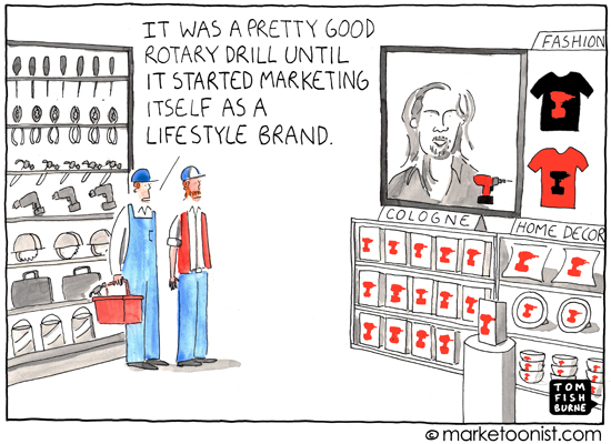 """Lifestyle Brand"" cartoon"