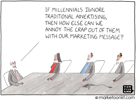 """""""Millennials"""" cartoon"""