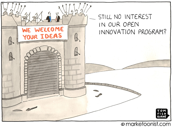 """Open Innovation"" cartoon"