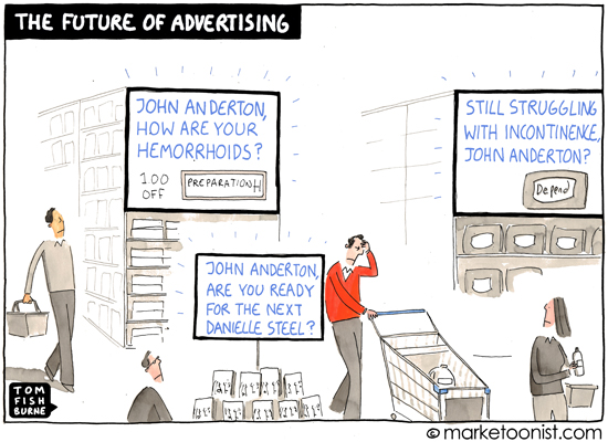 """The Future Of Advertising"" cartoon 