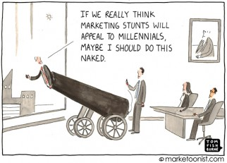 """Marketing Stunts"" cartoon"