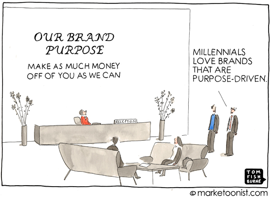 """Brand Purpose"" cartoon"