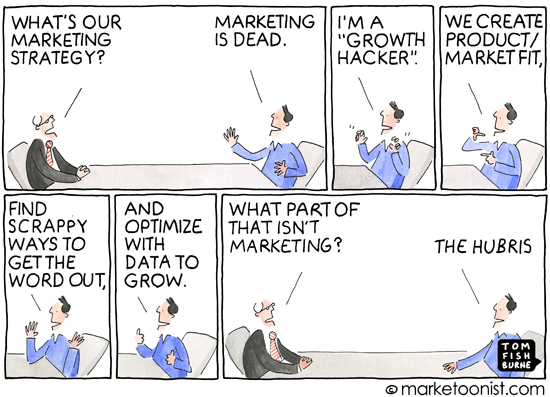 """Growth Hackers"" cartoon 