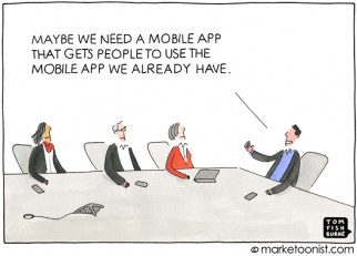 """Mobile App"" cartoon"