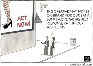 """A/B Testing"" cartoon"