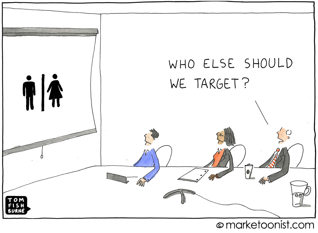 Who else should we target cartoon marketoonist tom for Product innovation agency