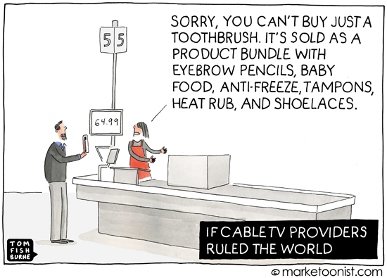 """Product Bundle"" cartoon"