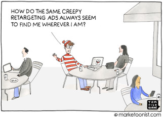 """Retargeting Ads"" cartoon"