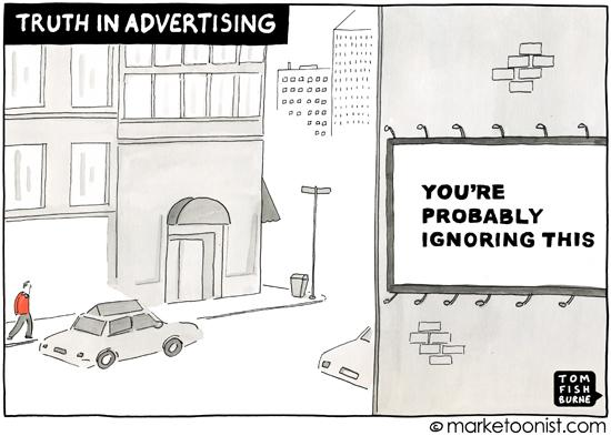 """Truth in Advertising"" cartoon"