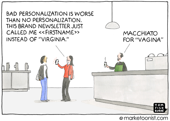 """Personalization"" cartoon"