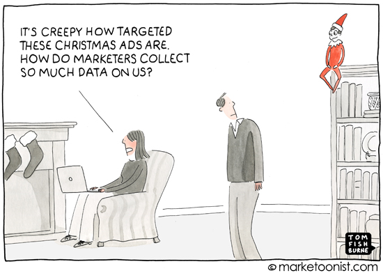 """Targeted Advertising"" cartoon"