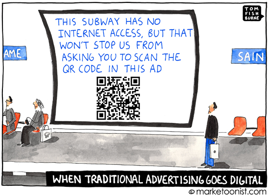 """go digital"" cartoon"