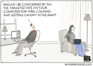"""Inferring Consumer Behavior"" cartoon"