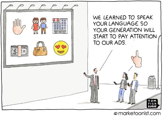 """Marketing To Generation Z"" cartoon | Marketoonist | Tom ..."