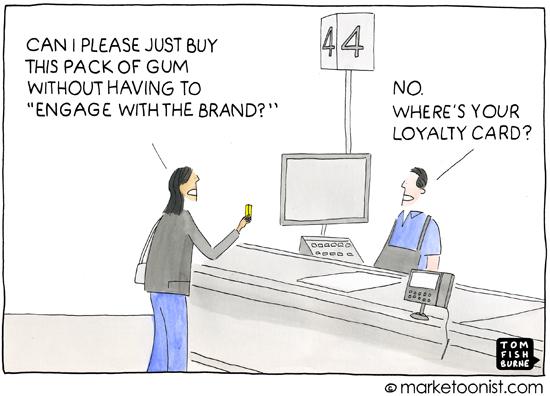 """Brand Engagement"" cartoon"