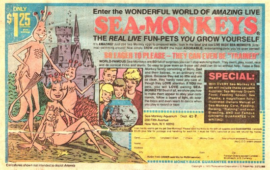 COMICAD sea monkeys