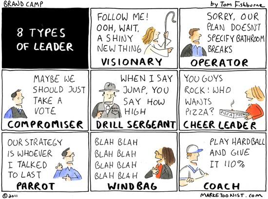 8 types of leader cartoon marketoonist tom fishburne - Designer stuhle leder ...