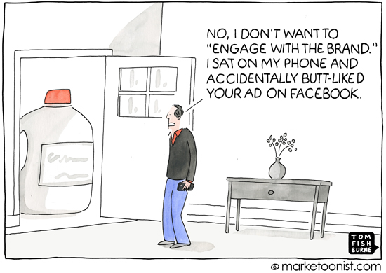 """engage with the brand"" cartoon"