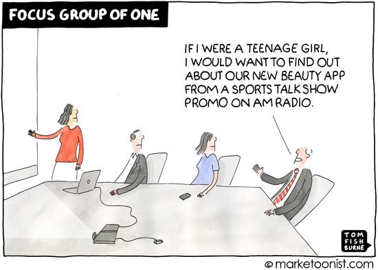 """Focus Group of One"" cartoon"