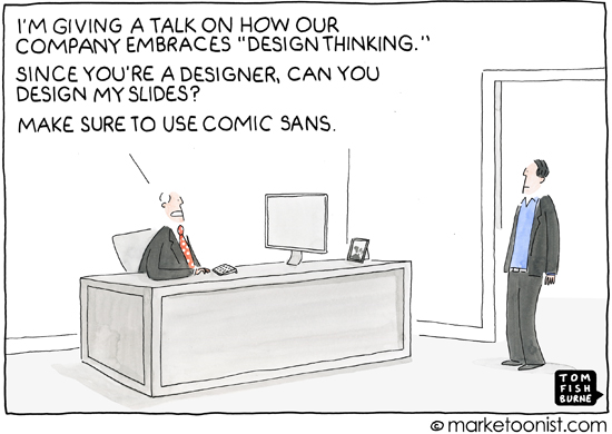 """Design Thinking"" cartoon"