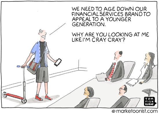"""Generational Marketing"" cartoon"
