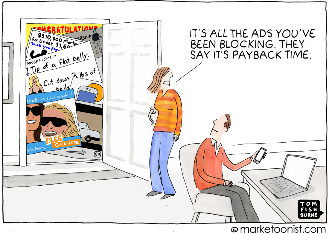 """Ad Blocking"" cartoon"
