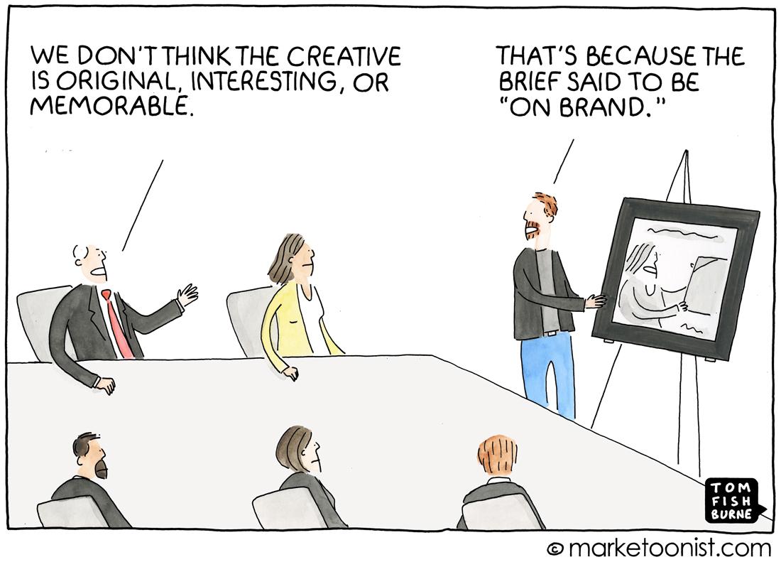 On Brand cartoon