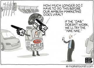 Ambush Marketing cartoon